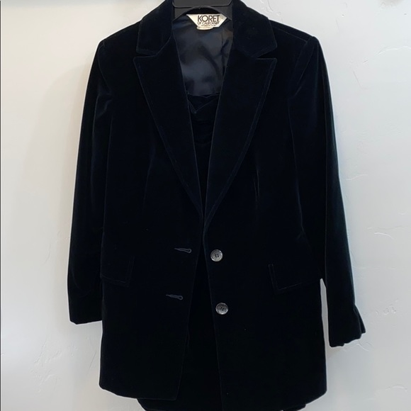 Koret of California Jackets & Blazers - Vintage Koret of California Black Velveteen Suit